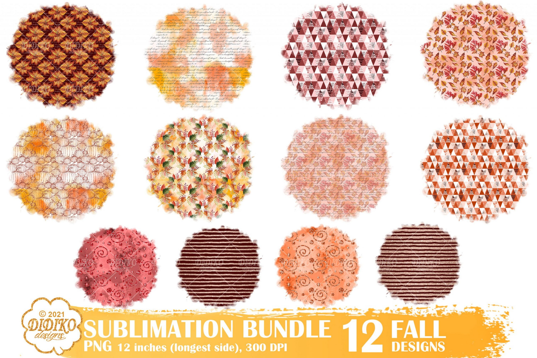 Fall Sublimation Background Bundle, Autumn Png