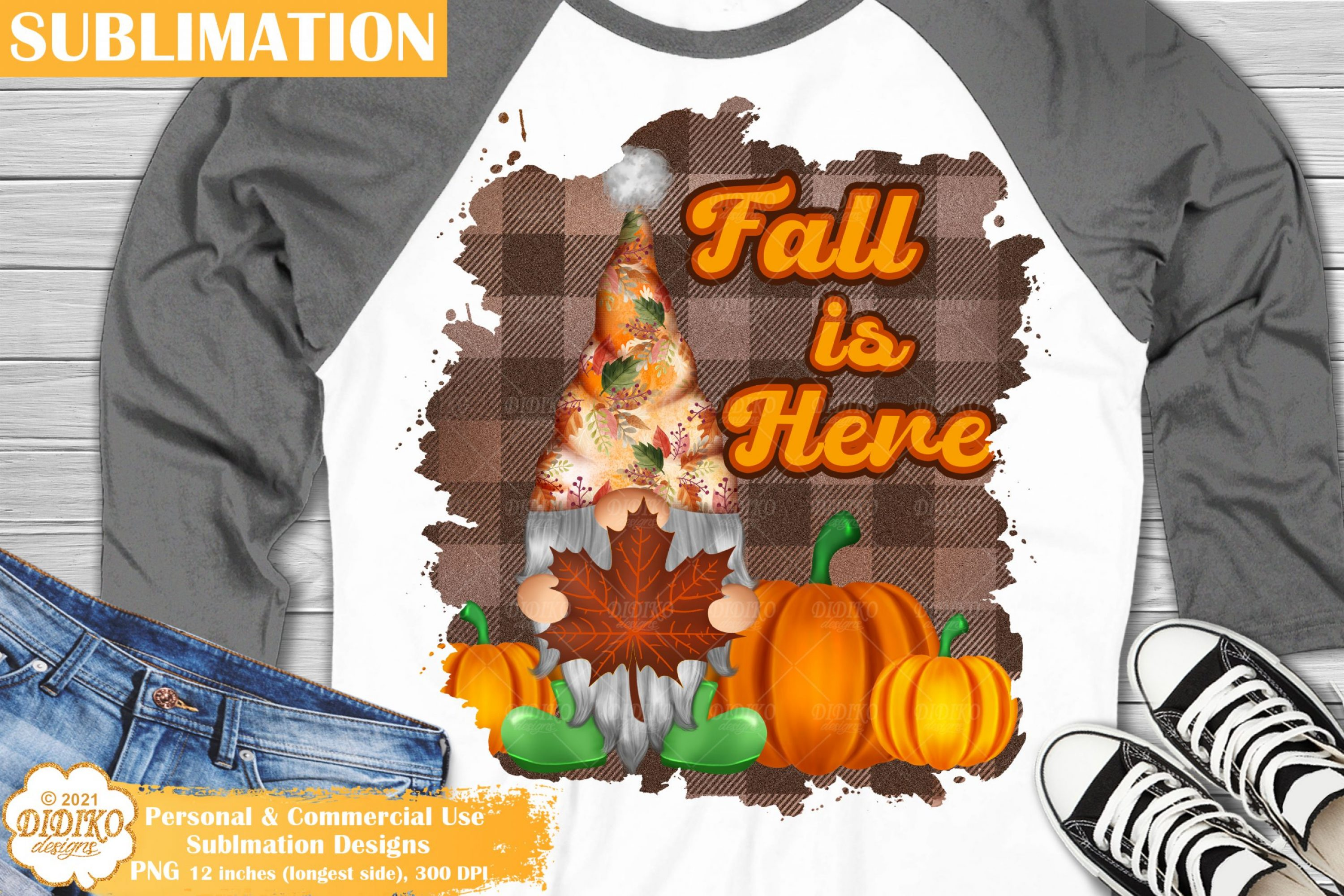 Fall Gnome Quote Sublimation, Pumpkin Png, Autumn