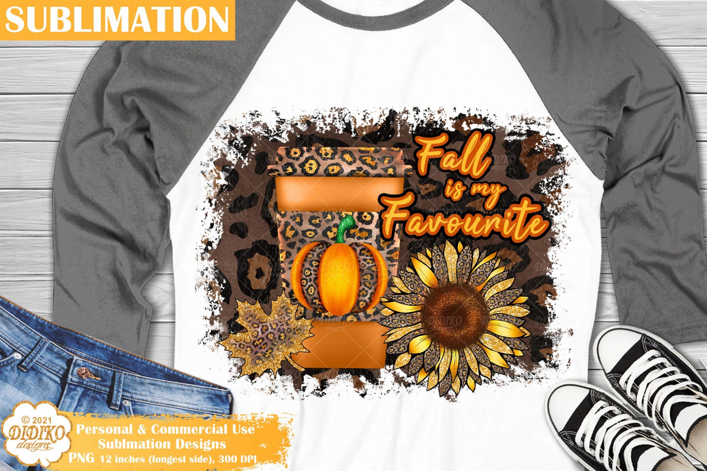 Leopard Fall Sublimation, Pumpkin Spice, Sunflower Png