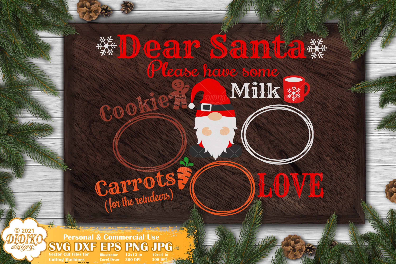 Santa Tray SVG #3, Christmas Gnomes Svg, Santa svg