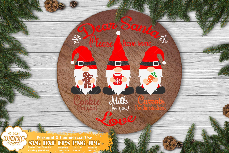 Santa Tray SVG #2, Christmas Gnomes Svg, Dear Santa