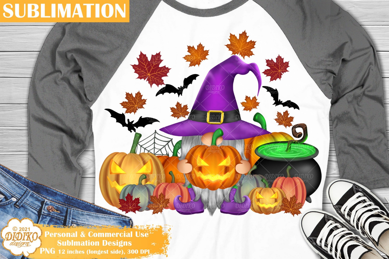 Halloween Gnome Sublimation Png, Halloween Pumpkin