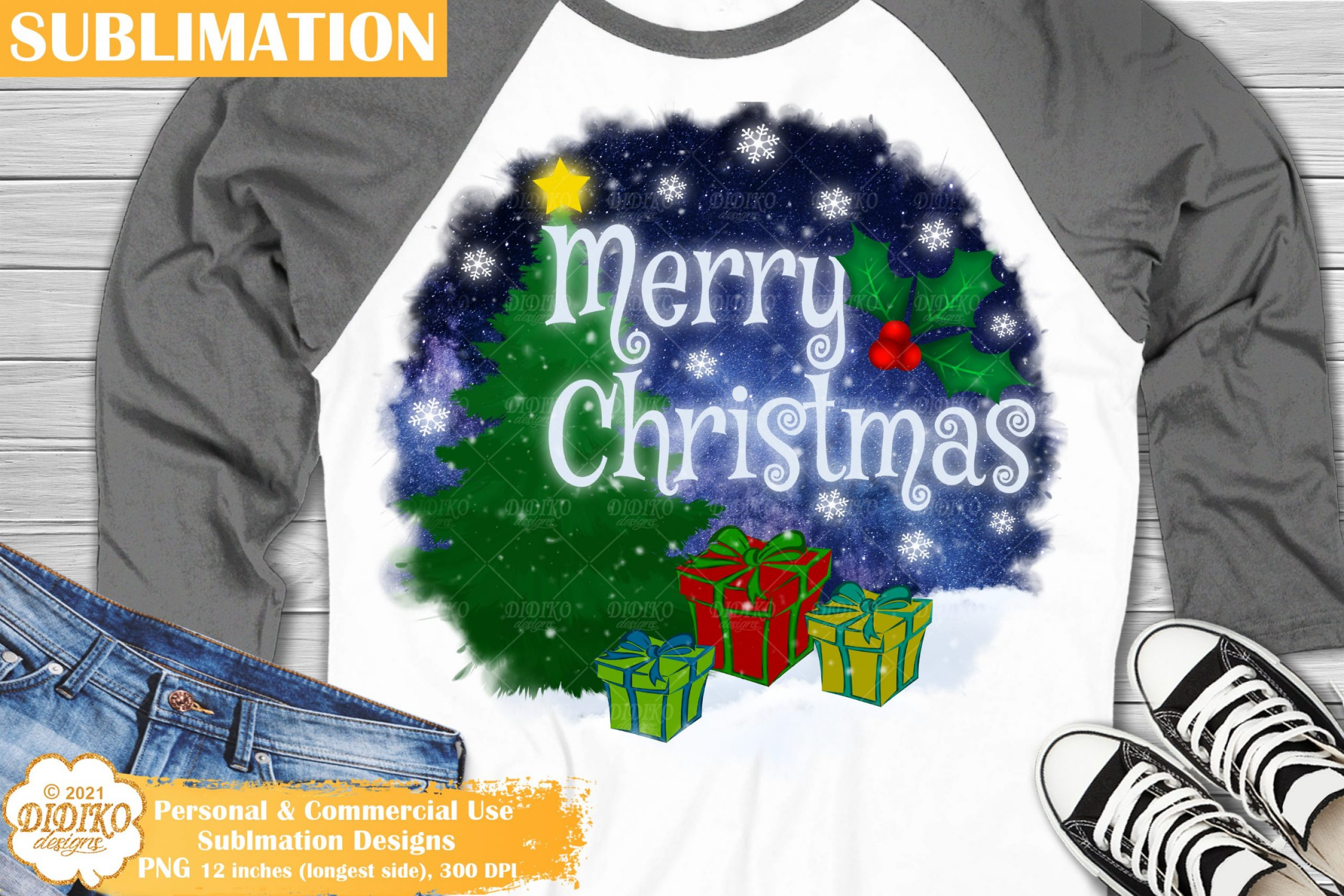 Merry Christmas Sublimation, Christmas round sign png