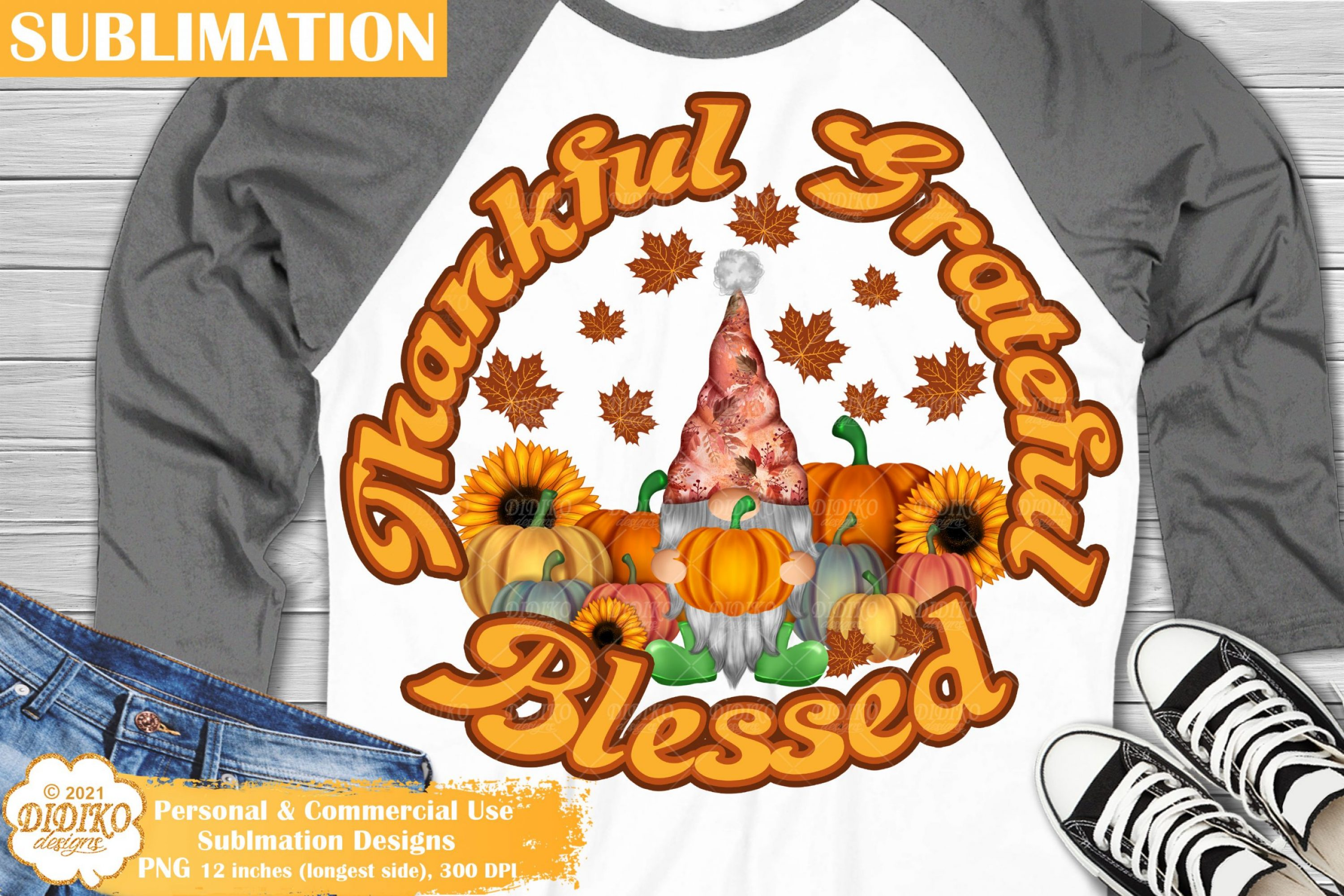 Gnome Thanksgiving Sublimation, Fall Gnome Png