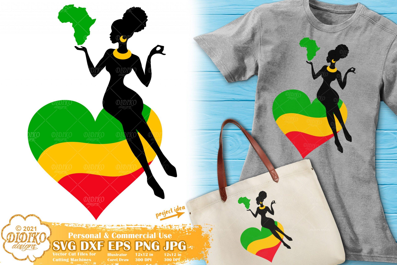 Black Woman Africa SVG, Afro Woman Svg, Juneteenth