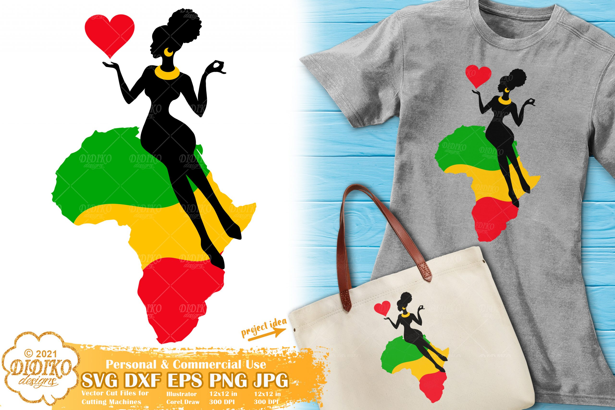 Afro Woman Africa SVG