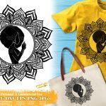 Black Woman Praying SVG #2