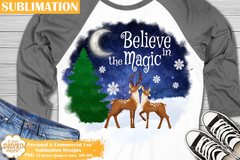 Christmas Sublimation, Santa Reindeers Png, winter png
