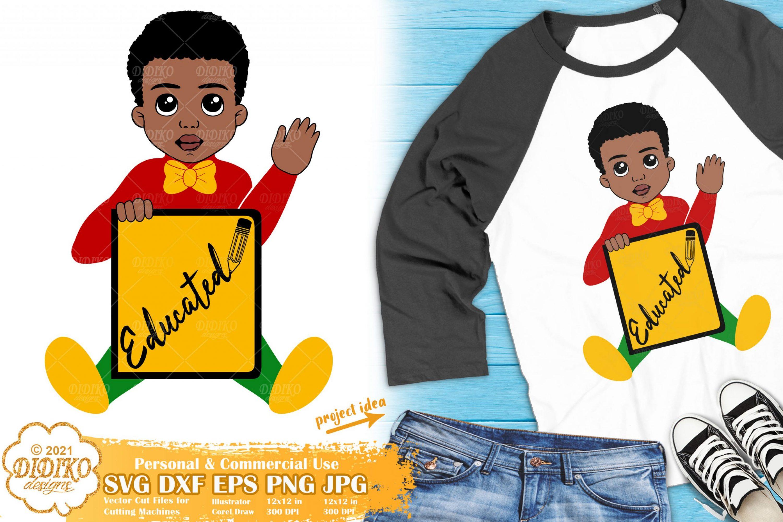 Black Boy School SVG, black educated svg, afro boy svg