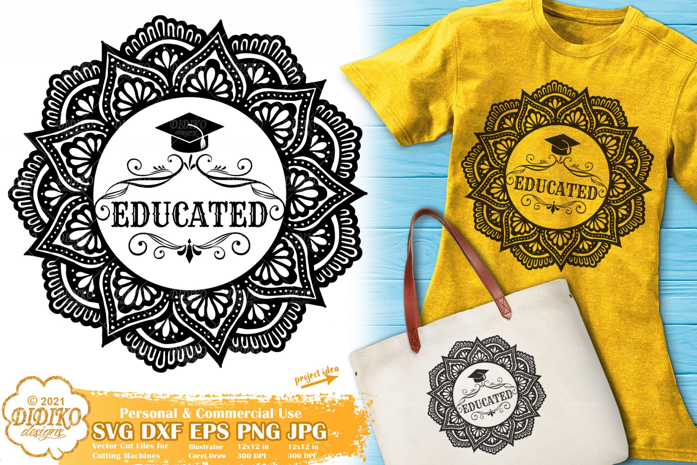 Graduation SVG, Mandala Teacher Svg, School Svg