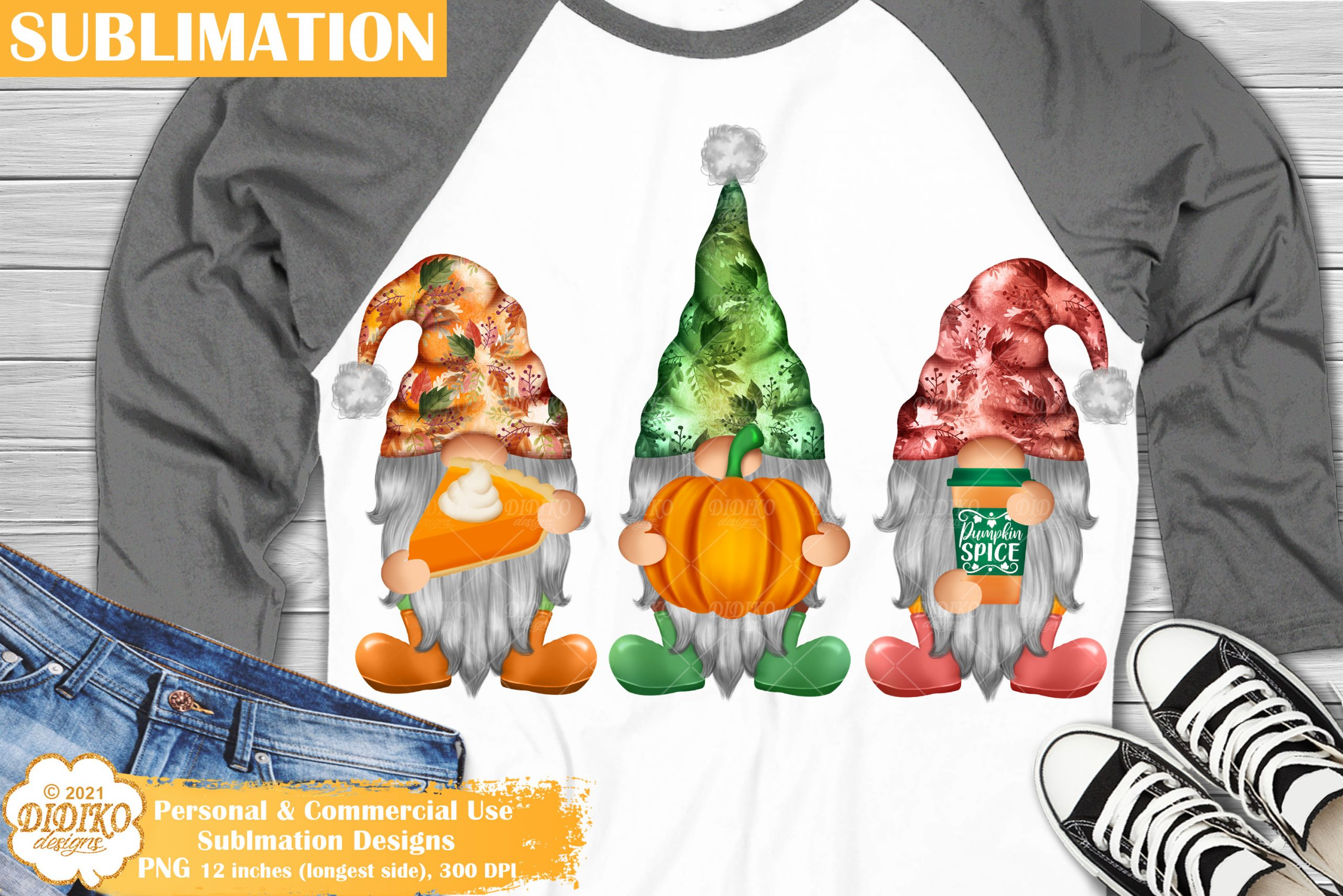 Happy Fall Gnome Sublimation