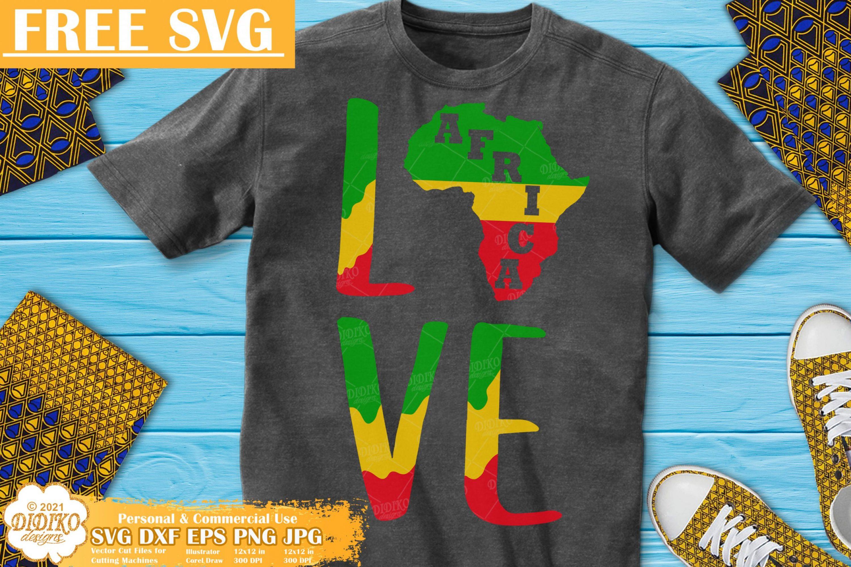 Free Africa SVG #1, Black history free svg, Juneteenth