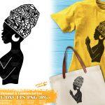 Praying Black Woman SVG #5