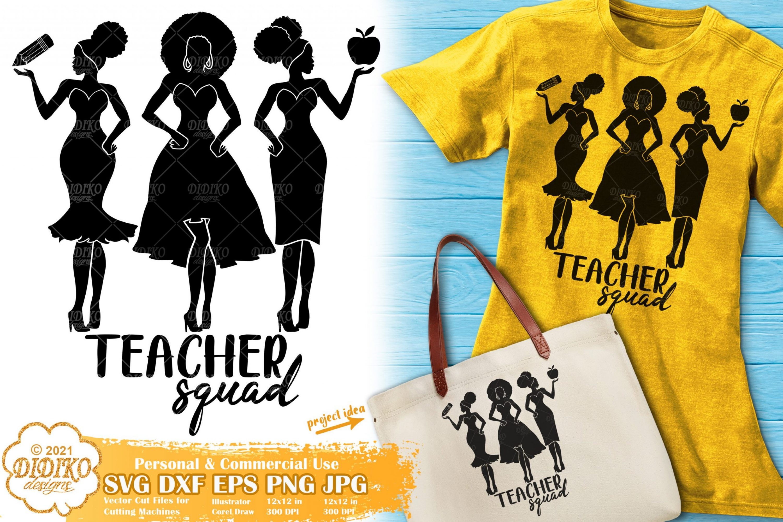 Black Teacher SVG, Afro Women Svg, Educated Svg