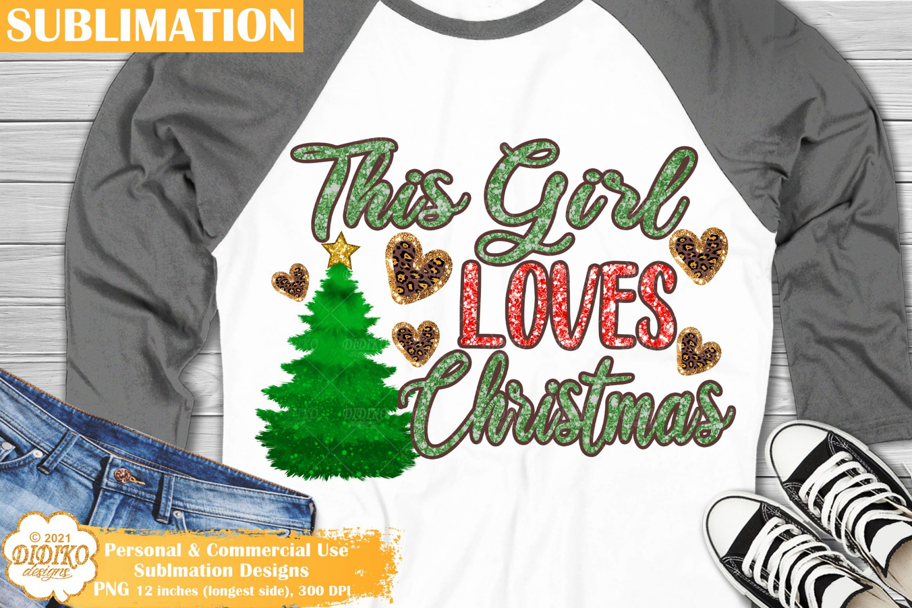 Christmas Quote Sublimation, Christmas Tree Png